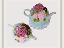 Violets and a Rose Tea Cosy