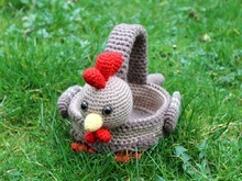 chickens basket for eastern crochet pattern