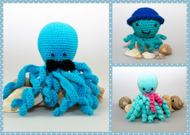 h kelanleitung amigurumi meer oktopus die krake spielzeug. Black Bedroom Furniture Sets. Home Design Ideas