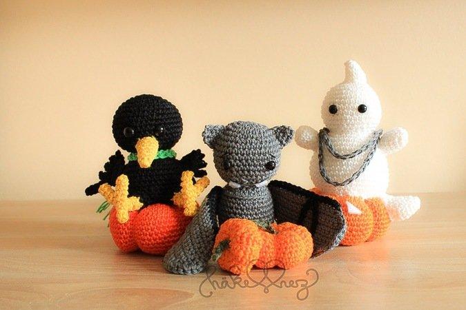 Halloween-Deko häkeln // drei Figuren möglich