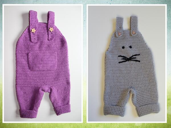 Crochet Pattern Baby Dungaree Size 56 86