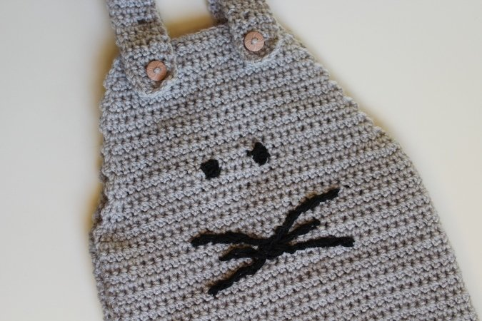 Crochet Pattern Baby Dungaree Size 56 86