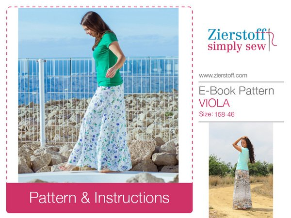 VIOLAs layered skirt – pattern & E-Book, sizes 158 – women´s 46 / Kids M – women´s L / Xl