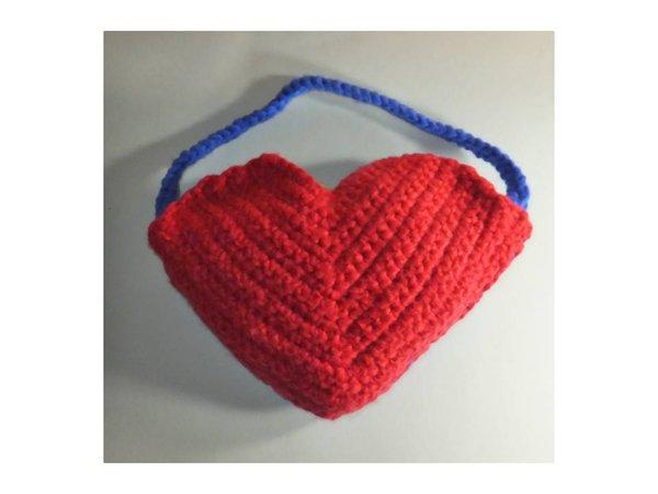 Geschenktasche Herz zu Valentinstag häkeln