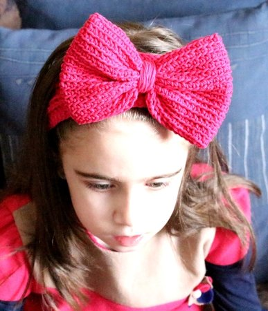 Crochet Headband Pattern Bow Headband Baby Bow Headband Women