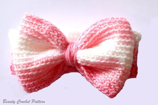 Crochet Headband Pattern, Bow Headband Baby, Bow Headband Women ...