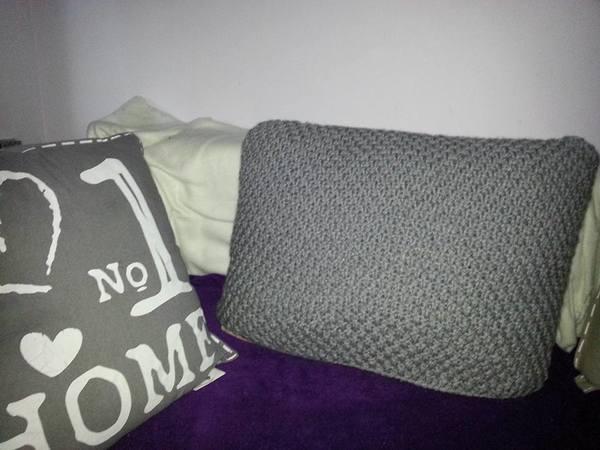 strickanleitung motivkissen kissen oder auch nur kissenh lle stadt 40x70 cm auch f r anf nger. Black Bedroom Furniture Sets. Home Design Ideas