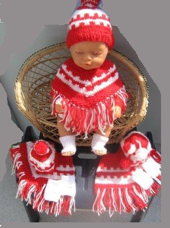 Poncho Mütze Und Knöchelwärmer Für Baby Puppen