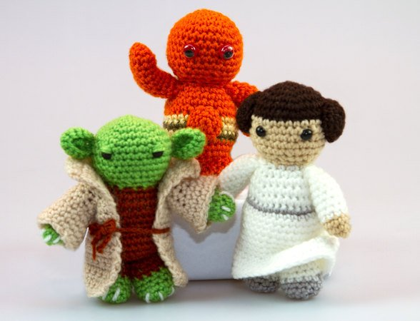 Amigurumi Star Wars Patterns : Amigrumi e book pattern star wars set