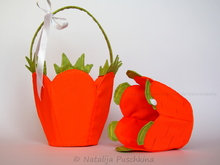 Carrot baskets for Easter and spring ist beautiful and practical in the same time