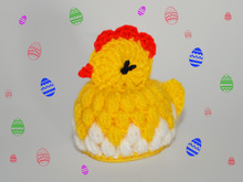 Chick in Eggshell – Egg Cosy – Easter Decoration