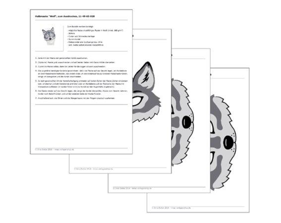 Wolf Maske Zum Ausdrucken