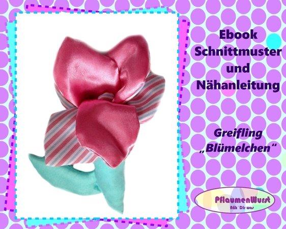 Greifling nähen -- Baby-Spielzeug -- Blumen