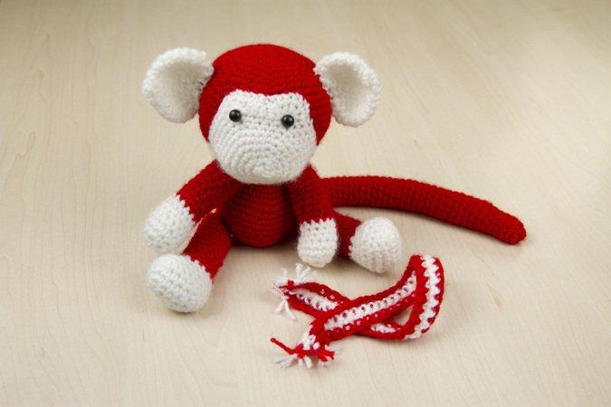 Free monkey crochet pattern (Free Amigurumi Patterns) | Crochet ... | 450x675