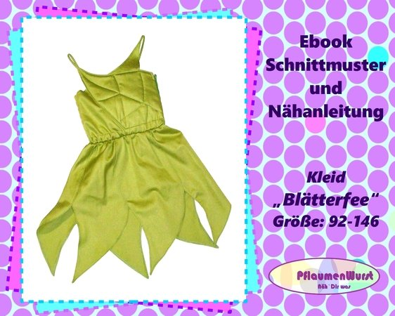 Mädchen Kleid Größe 92 - 146 Nähanleitung und Schnittmuster
