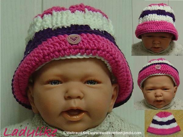 Baby Mütze Häkeln Baby Hut Ku 38 40 Cm
