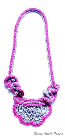 Crochet Pattern Two Colors Necklace