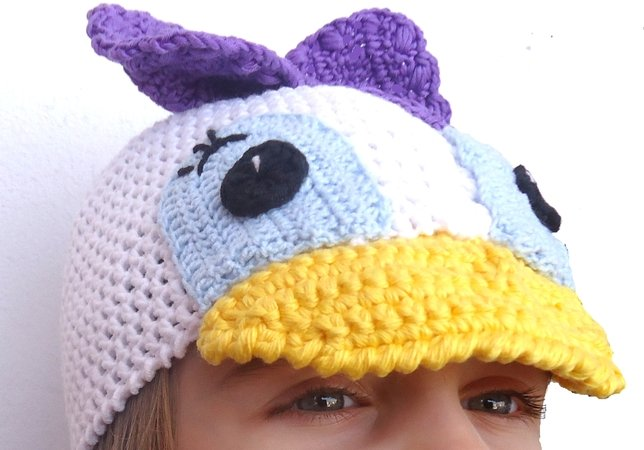Daisy Duck Crochet Hat Pattern