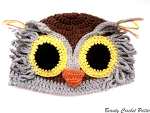 Owl Crochet Hat Pattern
