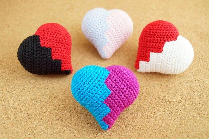 ❤ DIY ❤ Amigurumi 3D Herz Häkeln Anhänger| Deko | Geschenk - YouTube | 450x675
