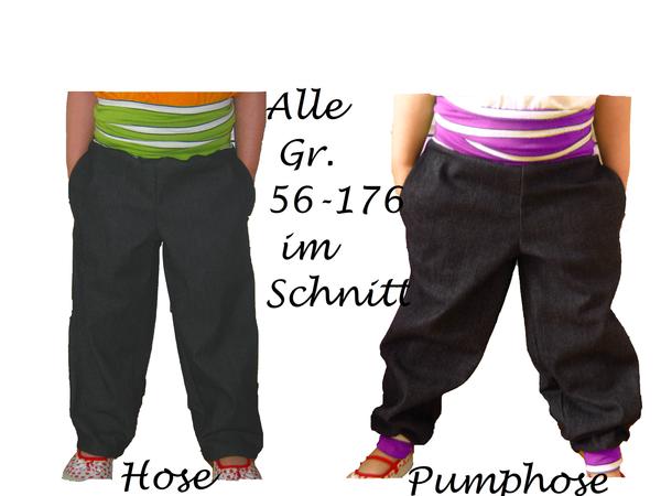 Kinderhose nähen // Pumphose Gr. 56-176 / DIY