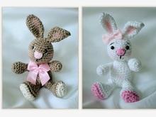 Amigurumi pattern for crochet Rabbit gardener. Easter bunny toy | 165x220
