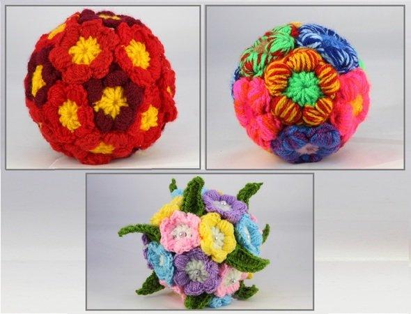 Blumen-Deko häkeln-//-Blumen-Kugel häkeln