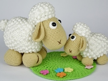 Lamb Lucky and Sheep Wolli Crochet Pattern