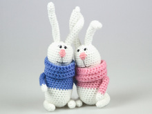 Crochet Amigrumi Pattern Easter Bunny Couple of Hares