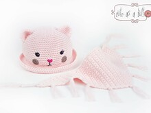 "Cute as a button Melone & Dreieckstuch ""Katze"""