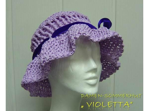 Hut häkeln--Hut für die Dame--leicht++elegant