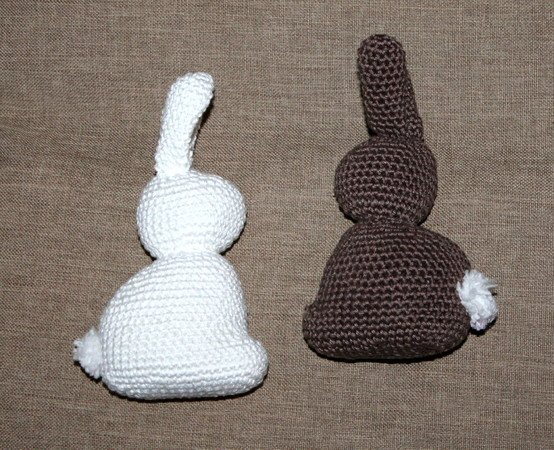 crochet eastern bunny brown and white