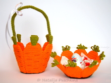 Carrot baskets - Crochet Pattern