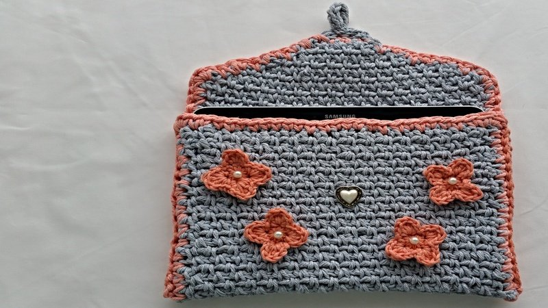 Häkelanleitung Tabletlaptop Tasche No1