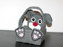 Eastern basket bunny crochet pattern