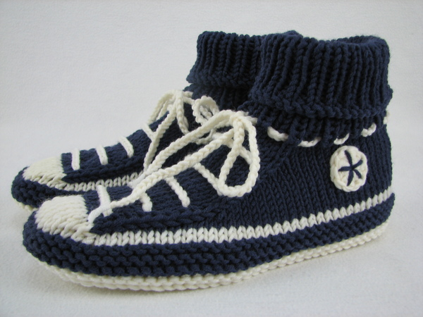 Knit House Shoes Slippers Sneaker Style