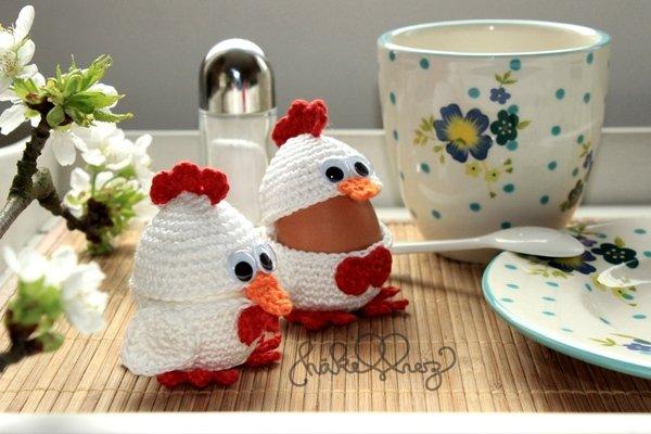 Eierbecher h keln huhn als eierbecher diy - Eierbecher selber basteln ...