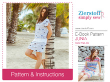 JUNIAs dress pattern – pattern & E-Book, sizes 158 – women´s 46 / Kids M – women´s L / Xl