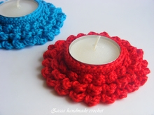 Crochet candle coasters, tealight holder