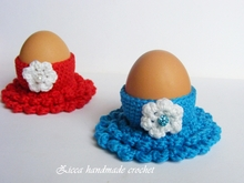 Crochet Easter egg cozy, egg holder