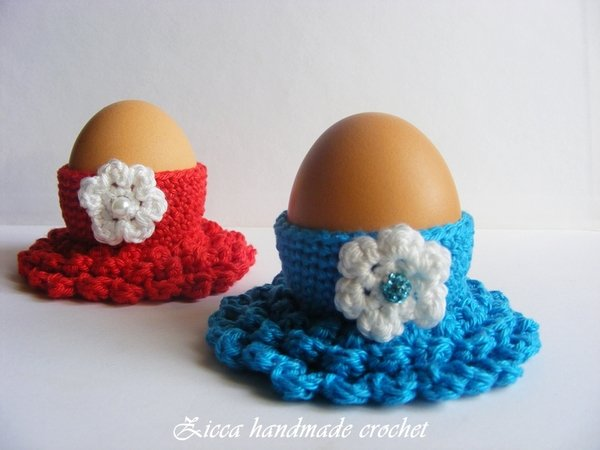 Crochet Egg Holder : Crochet Easter egg cozy, egg holder