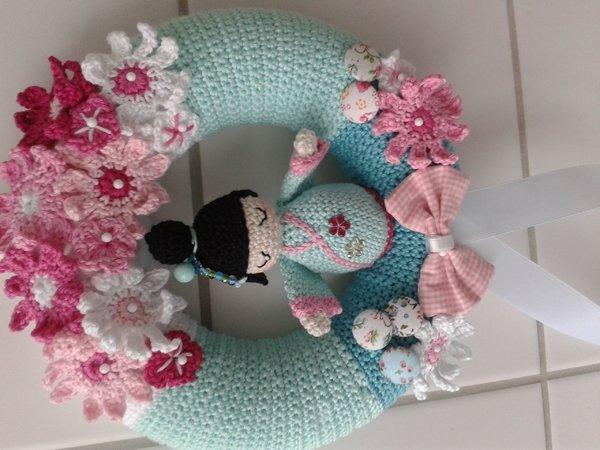 Crochet Pattern Wreath Pattern Crochet Cherry Blossom Wreath
