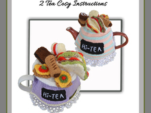 Hi-Tea Tea Cosy - 2 patterns included