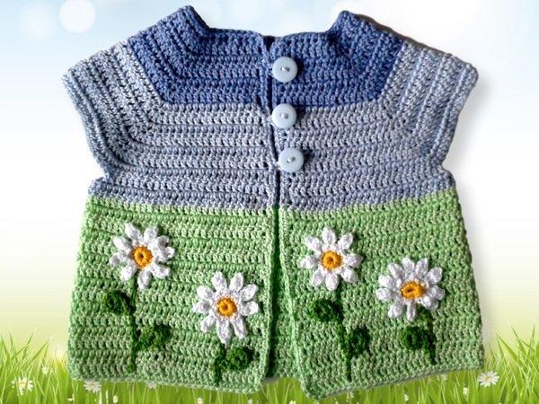 Baby Sweaters To Crochet Patterns : Vest Crochet pattern