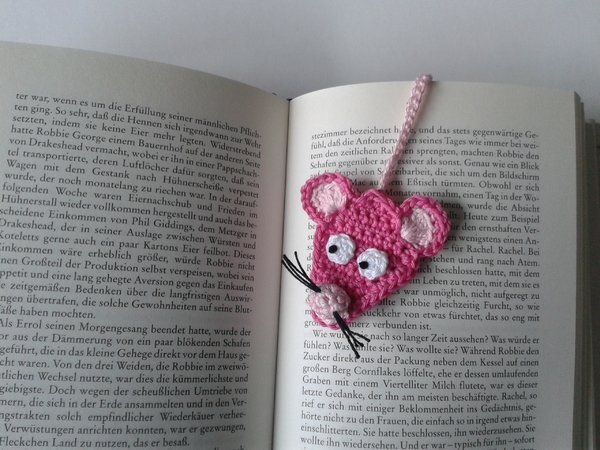 mousE-Bookmark crochet pattern