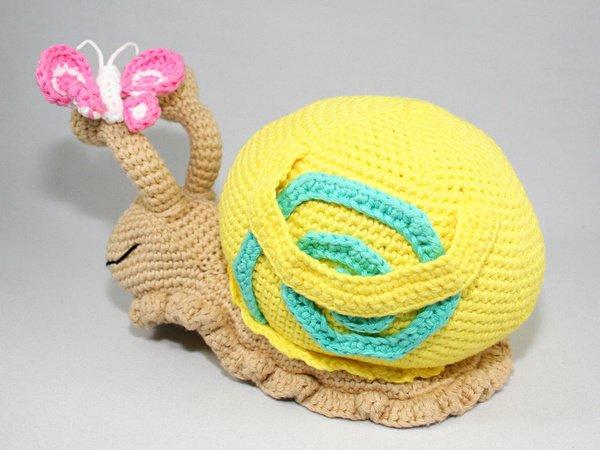 Knitting Pattern For Toy Snail : Snail - Doorstop - Stuffed Toy - Crochet Pattern