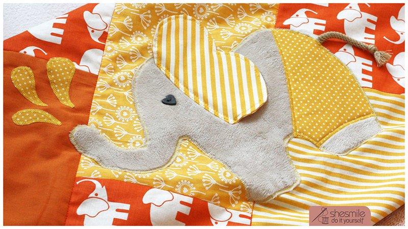 Elefant Nelefant Applikationsvorlage Und Nähanleitung