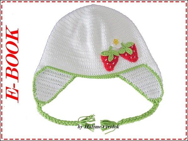 E Book Babymützekindermütze Mit Erdbeere 4 Größen