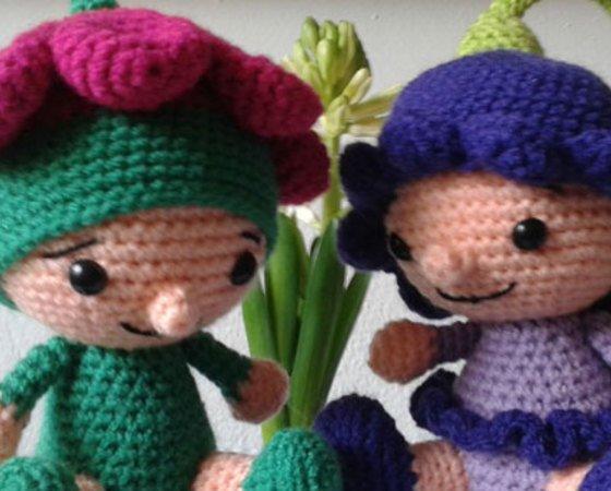 Amigurumi Häkeln Blumendeko Mit Puppen