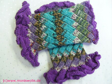 Knitting wristlets, arm warmers RAMONA